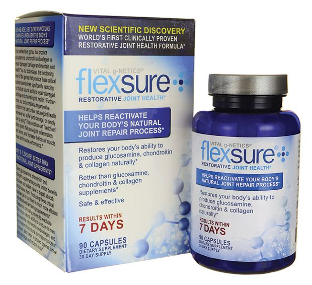 Box and bottle of Flexsure