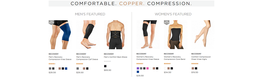 Tommie Copper website screenshot