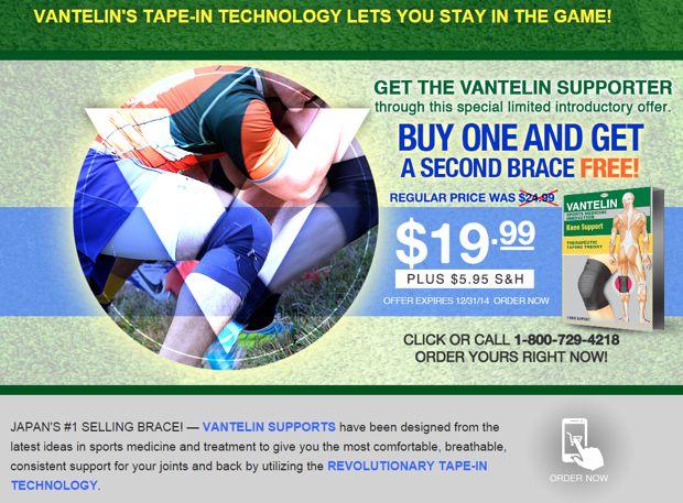 vantelin knee brace website