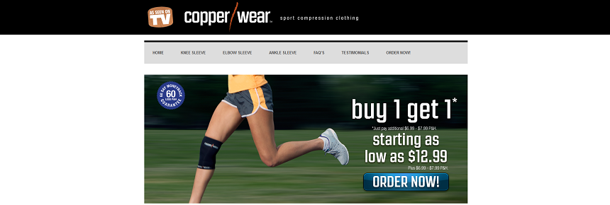 Copper Wear website screenshot