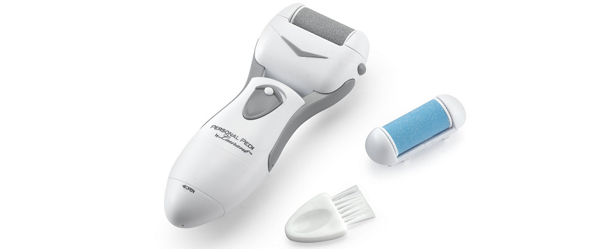 Personal Pedi unit with roller and brush