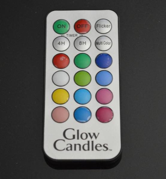 glow candles remote